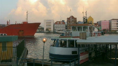 Oiltanker in downtown Willemstad Curacao 1 Stock Footage