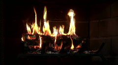 fireplace - stock footage
