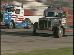 Motorsports, Big Rig race  Stock Footage