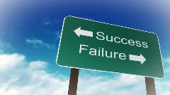 Success and Failure sign Stock Footage
