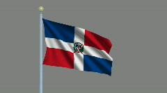 Flag of Dominican Republic Stock Footage