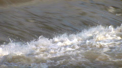 Close up of a river weir - stock footage