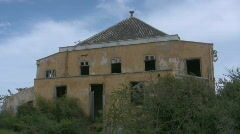Old quarantine building on Curacao 2 Stock Footage