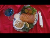 Stock Video Footage of Fried Halibut