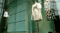 Shop windows Stock Footage