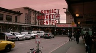 Public market sign Stock Footage
