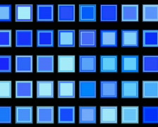 Blue Squares Loopable Cubes Background Stock Footage