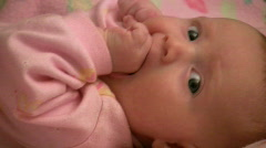 cute baby close-up - stock footage