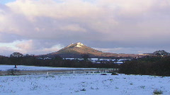 Wrekin snow timelapse 1080p Stock Footage