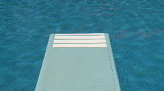 Diving board swimming pool  Stock Footage