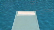 Stock Video Footage of Diving board swimming pool