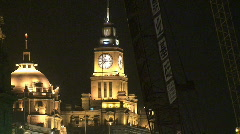 Colonial Buildings on Shanghai's Famous Bund Stock Footage