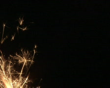 Sparkler buring Stock Footage