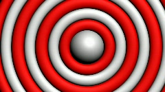 Spinning Rings Align To For Red & White Target Stock Footage