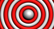 Stock Video Footage of Spinning Rings Align To For Red & White Target