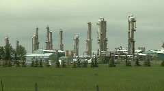 Oil & gas, gas plant, medium, pipes and vessels Stock Footage