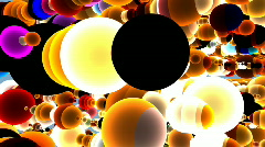 3d Colorful Sphere Background Stock Footage
