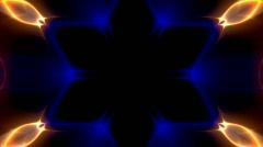 Light kaleidoscope modulations Stock Footage