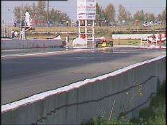 Motorsports, American Indy Car race, tight follow Stock Footage