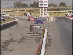 Motorsports, GT race from starters cage, #2 Stock Footage