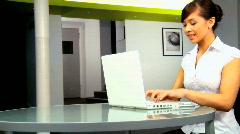Businesswoman on laptop Stock Footage
