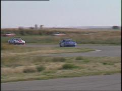 Motorsports, GT race, chicane Stock Footage