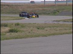 Motorsports, American Indy Car race, spin out Stock Footage