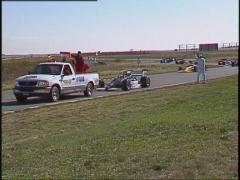 Motorsports, American Indy Car race, safety truck and crew Stock Footage