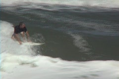Surfing Air Wipeout Stock Footage
