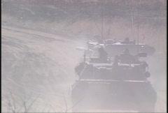 Military, Leopard tank firing, #14 machine gun Stock Footage