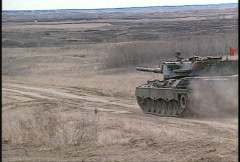 Military, Leopard tank firing, #5 Stock Footage