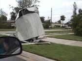 Hurricane Aluminum Damage Stock Footage
