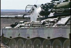 Military, Leopard tank firing, #13 machine gun Stock Footage