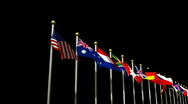 Stock Video Footage of World Flags on a Black Background HD1080