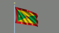 Flag of Grenada Stock Footage