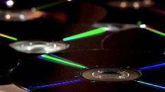 Rotating DVD Discs - Close - stock footage