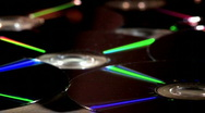 Stock Video Footage of Rotating DVD Discs - Close