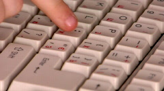 Press enter key Stock Footage