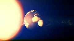Earth, Sun, Moon - stock footage