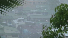 Rainfall over the small city Sabang in Philippines Stock Footage