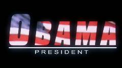 Barack Obama Graphic Title Stock Footage
