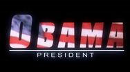 Barack Obama Graphic Title Stock Footage
