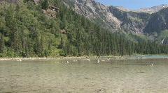 Montana Moutain waterfall3 Stock Footage