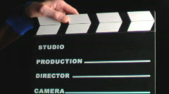 Stock video footage cinema clapboard Stock Footage