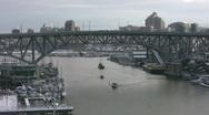 Granville Bridge. Vancouver, Canada. Stock Footage