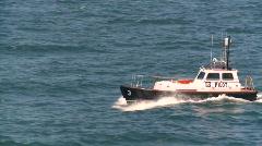 Marine transportation, pilot boat, #2 Stock Footage
