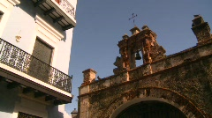San Juan Puerto Rico old town, cross gate, #1 Stock Footage