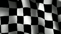 Checkered Flag Loop Stock Footage