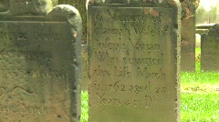 Church cemetery, New York City, mid 1700s, #4 MCU Stock Footage