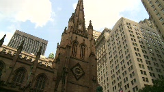 New York City, old church, #1 Stock Footage